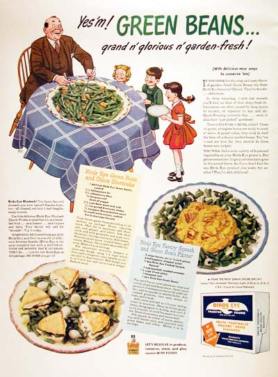 1944 Bird's Eye Green Beans #006995