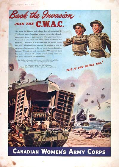 1944 Canadian Women's Army Corps #002411