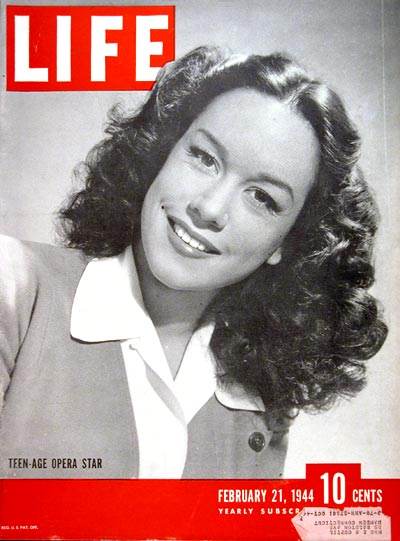 1944 Life Cover - Patrice Munsel #007009