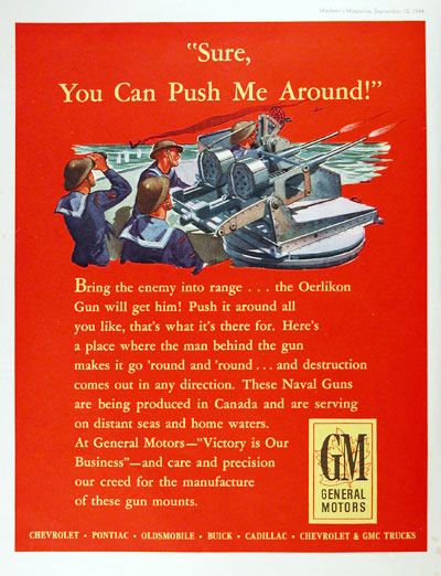 1944 Oerlikon War Effort Vintage Ad #000397