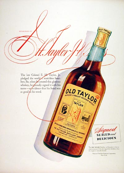 1944 Old Taylor Whiskey #007415