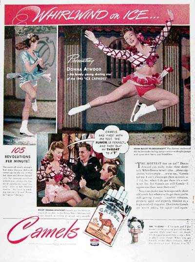 1945 Camel Cigarettes Donna Atwood #024402