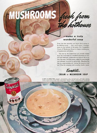 1945 Campbell's Cream of Mushroom Soup #009642