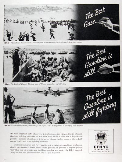 1945 Ethyl Gasoline War Effort #009710
