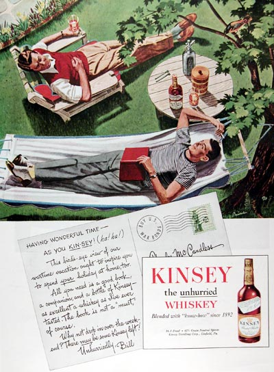 1945 Kinsey Whiskey #009656