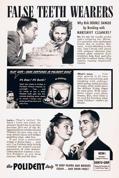 1945 Polident Denture Cleaner #003856