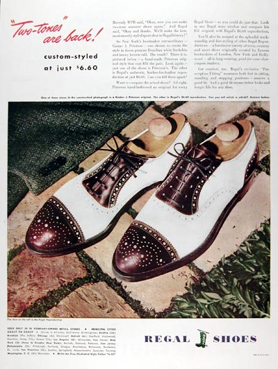 1945 Regal Shoes #009724