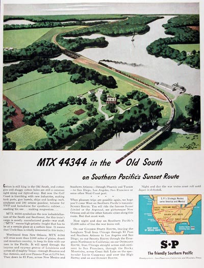 1945 Southern Pacific Railroad #009727