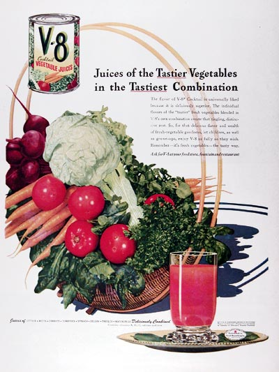 1945 V8 Vegetable Juice #024390