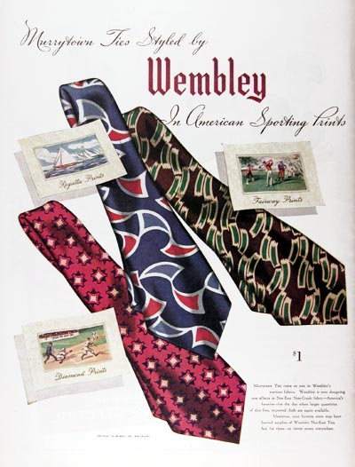 1945 Wembley Ties #024374