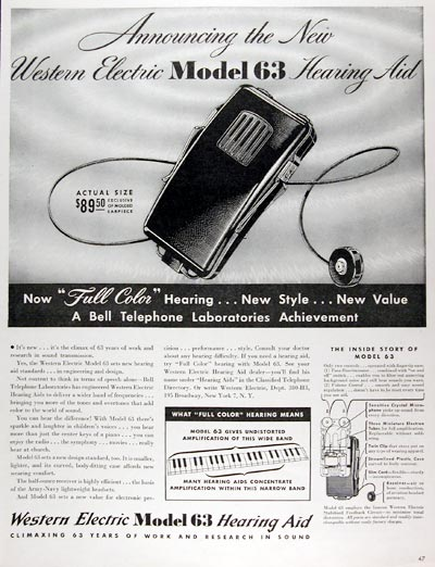 1945 Western Electric Hearing Aid #009647