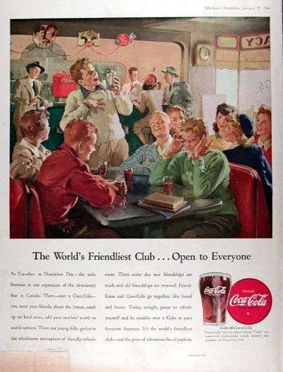 1946 Coca Cola Soda Fountain #010941