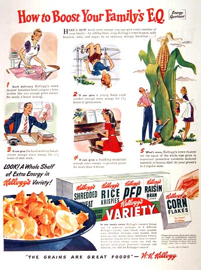 1946 Kellogg's Variety Pack Classic Ad #002041