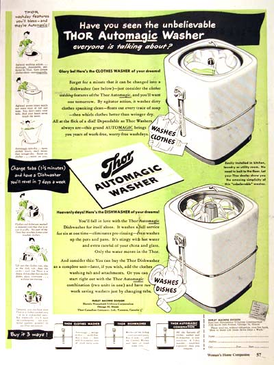 1946 Thor Washer Vintage Ad #002038