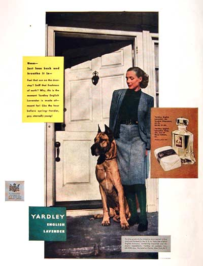 1946 Yardley English Lavender Vintage Ad #002027
