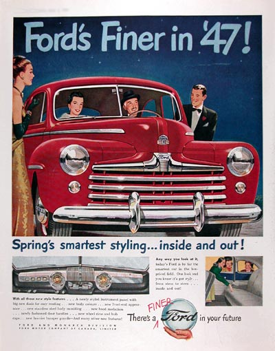 1947 Ford Super Deluxe 8 Classic Ad #010892