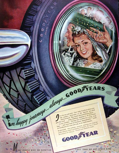 1947 Goodyear Tires Vintage Ad  #010893