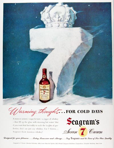 1947 Seagram's 7 Crown Whiskey #009698