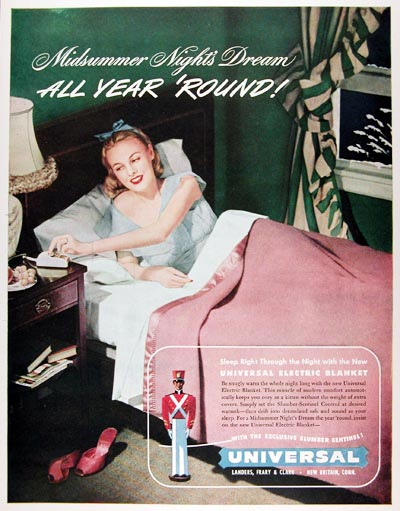 1947 Universal Electric Blanket #009671