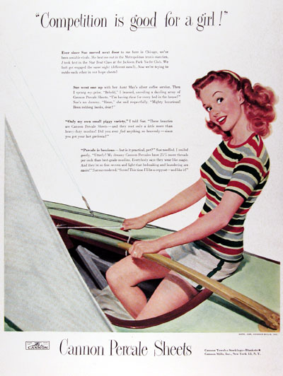 1948 Cannon Percale Sheets #024936