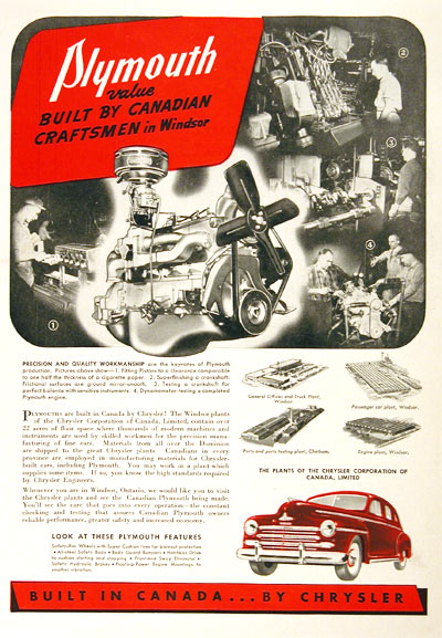 1948 Plymouth Assembly Plant Vintage Ad #001895