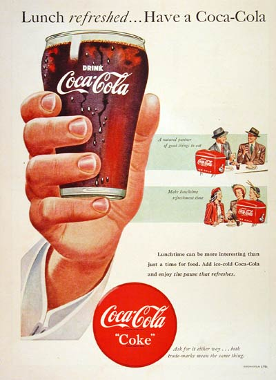 1948 Coca Cola Lunch #004355