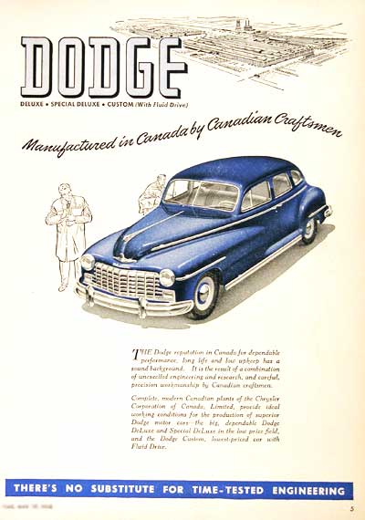1948 Dodge Sedan Classic Ad #001896