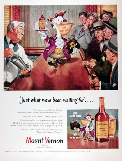 1948 Mount Vernon Whiskey #024375