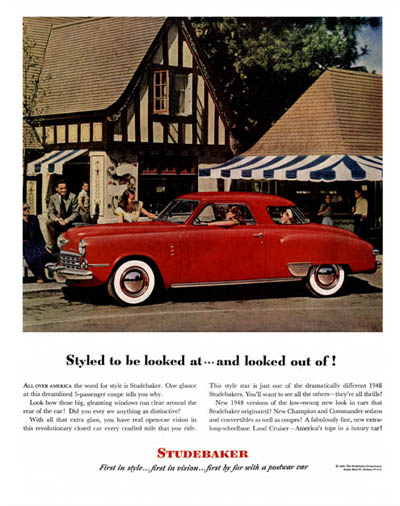 1948 Studebaker Coupe Classic Ad #000475