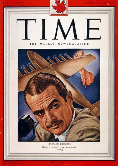 1948 Time Cover - Howard Hughes #004349