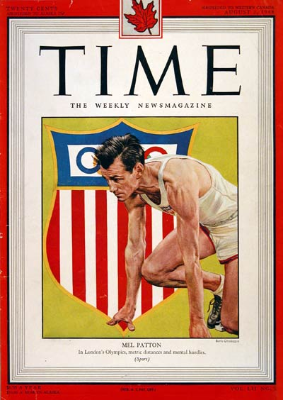 1948 Time Cover - Mel Patton #004351