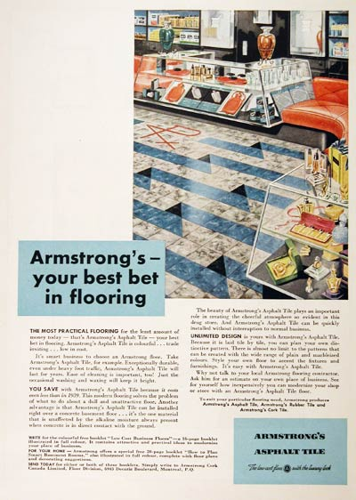1949 Armstrong Tile Classic Ad #001422