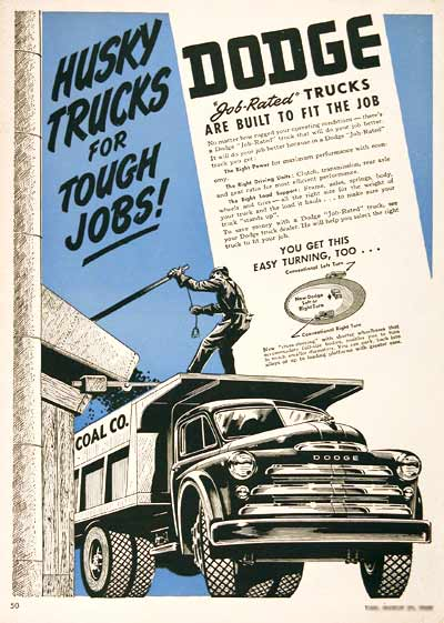 1949 Dodge Trucks Vintage Ad #001906