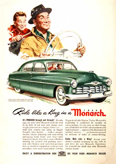 1949 Ford Monarch Vintage Ad #001553