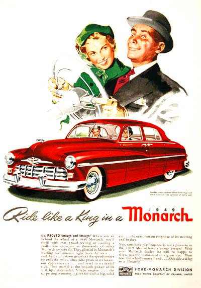 1949 Ford Monarch Vintage Ad #001554