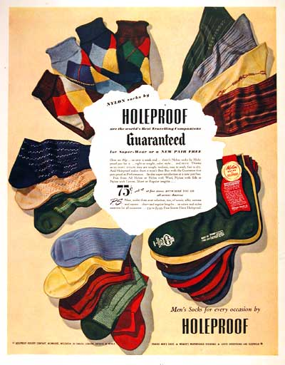 1949 Holeproof Socks #002765