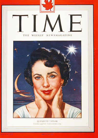 1949 Time Cover - Liz Taylor