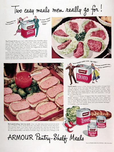 1950 Armour Canned Meats #023619