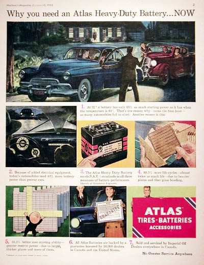 1950 Atlas Car Battery #008010