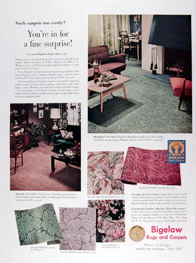 1950 Bigelow Carpets & Rugs #023691