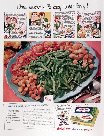 1950 Bird's Eye Green Beans #023673