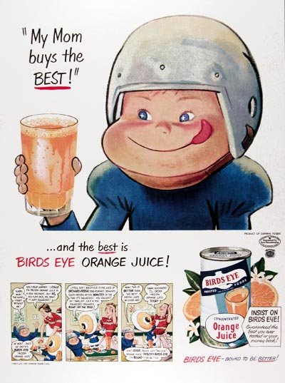 1950 Bird's Eye Orange Juice #024449