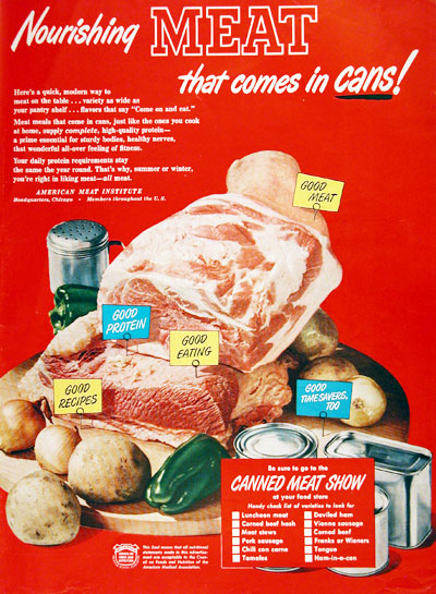 1950 Canned Meat #002954