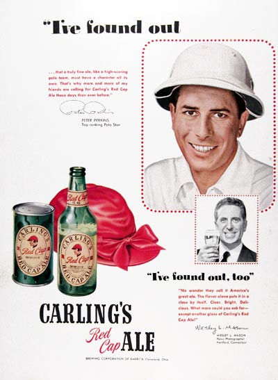 1950 Carling Red Cap Ale #023622
