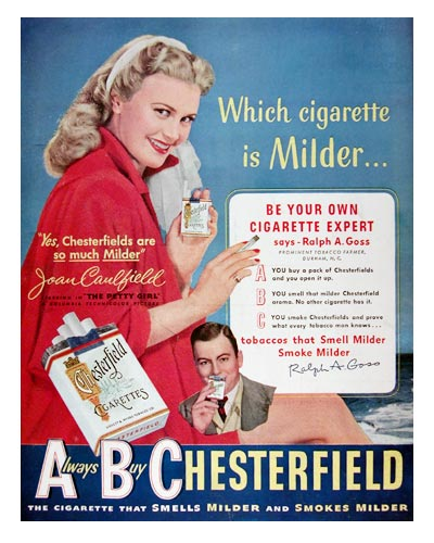 1950 Chesterfield Cigarettes #023717