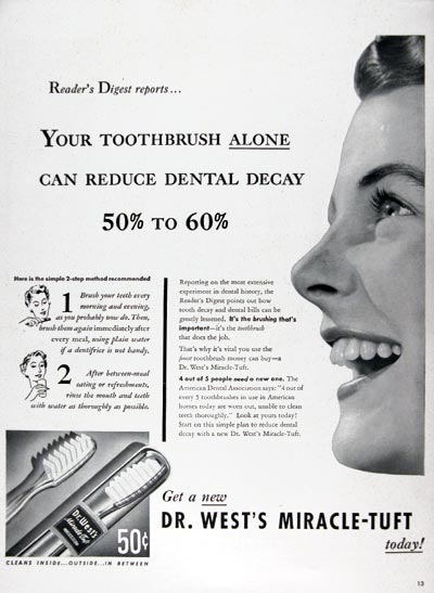 1950 Dr. West Toothbrush #023657
