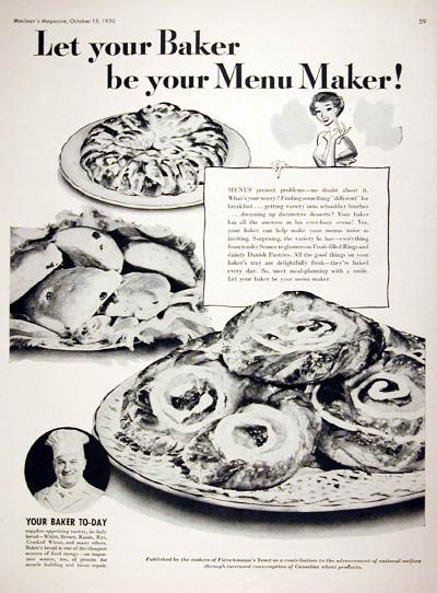 1950 Bakery Menu Ideas #008023