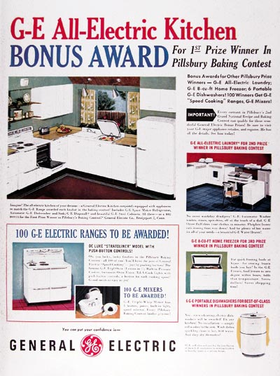 1950 GE All Electric Kitchen #023699