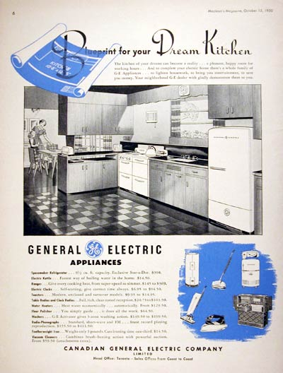 1950 GE Kitchen Appliances #008011