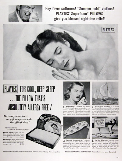1950 Playtex Superfoam Pillows #023627